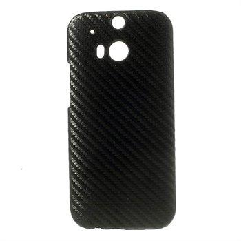 Billede af HTC One M8 inCover Plastik Cover - Sort Carbon