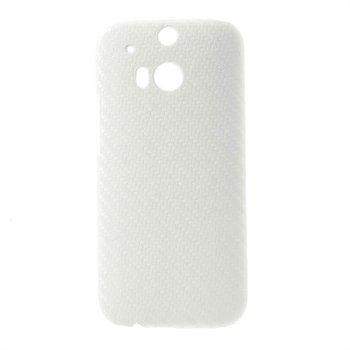 Billede af HTC One M8 inCover Plastik Cover - Hvid Carbon