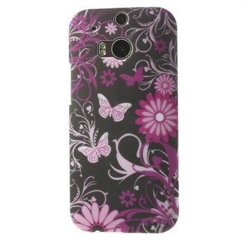 Billede af HTC One M8 inCover Design Plastik Cover - Butterfly Flowers