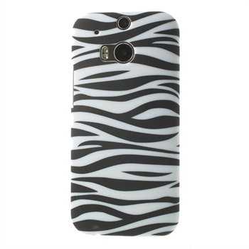 Billede af HTC One M8 inCover Design Plastik Cover - Zebra