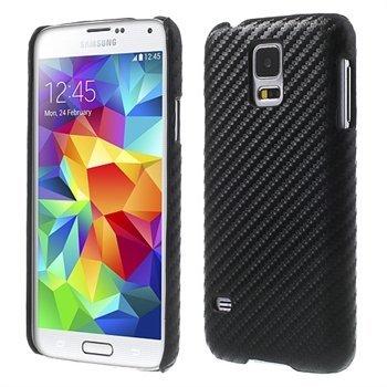 Billede af Samsung Galaxy S5/S5 Neo inCover Design Plastik Cover - Sort Carbon