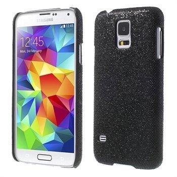 Billede af Samsung Galaxy S5/S5 Neo inCover Design Plastik Cover - Sort Glitter