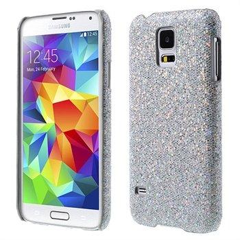 Billede af Samsung Galaxy S5/S5 Neo inCover Design Plastik Cover - Sølv Glitter
