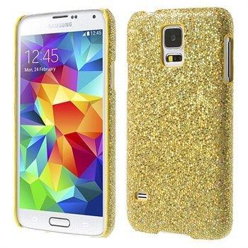 Billede af Samsung Galaxy S5/S5 Neo inCover Design Plastik Cover - Guld Glitter