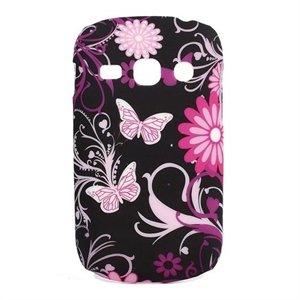 Billede af Samsung Galaxy Fame inCover Design Plastik Cover - Black Butterfly
