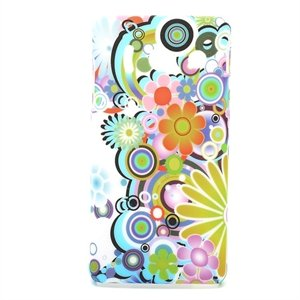 Image of Huawei Ascend Y300 inCover Design Plastik Cover - Flower Power
