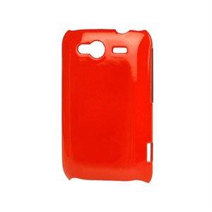 Image of HTC Wildfire S Plastik luksus cover - rød