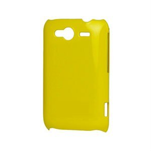 Image of HTC Wildfire S Plastik luksus cover - gul
