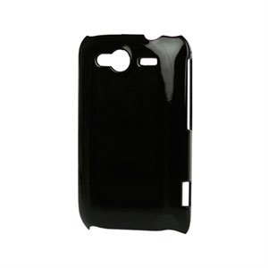 Image of HTC Wildfire S Plastik luksus cover - sort