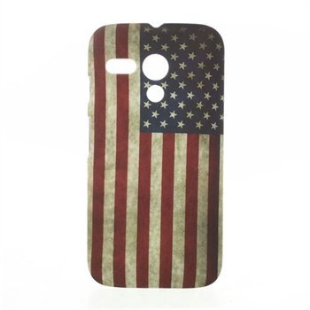 Image of Motorola Moto G inCover Design Plastik Cover - Stars & Stripes