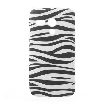 Billede af Motorola Moto G inCover Design Plastik Cover - Zebra
