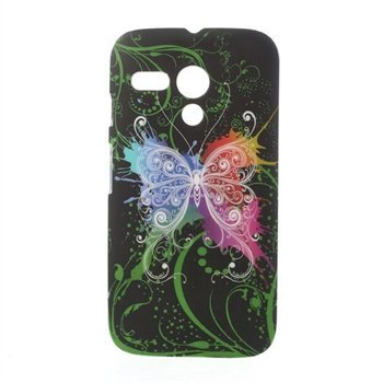 Image of Motorola Moto G inCover Design Plastik Cover - Black Butterfly