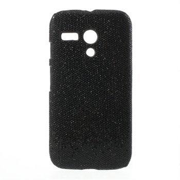 Billede af Motorola Moto G inCover Design Plastik Cover - Sort Glitter