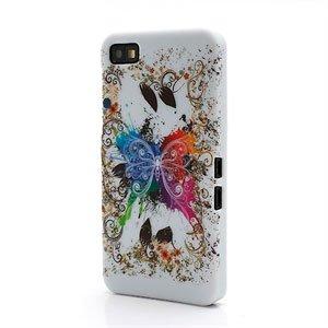 Billede af BlackBerry Z10 inCover Design Plastik Cover - White Butterfly