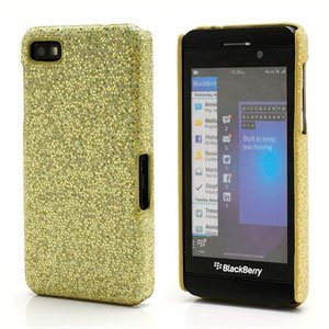 Image of BlackBerry Z10 inCover Design Plastik Cover - Guld Bling