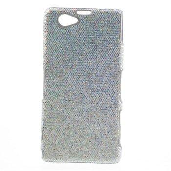 Billede af Sony Xperia Z1 Compact inCover Design Plastik Cover - Sølv Glitter