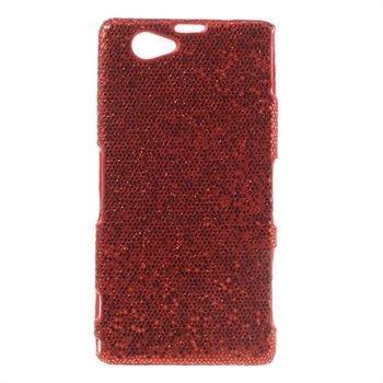 Billede af Sony Xperia Z1 Compact inCover Design Plastik Cover - Rød Glitter