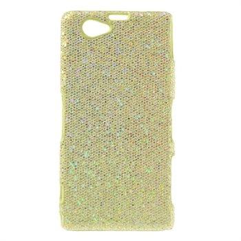 Billede af Sony Xperia Z1 Compact inCover Design Plastik Cover - Guld Glitter