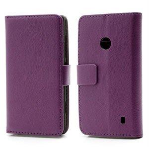 Nokia Lumia 520 FlipStand Taske/Etui - Lilla