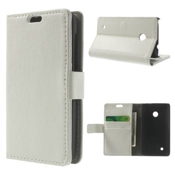 Image of Nokia Lumia 530 Deluxe FlipCover Med Pung - Hvid