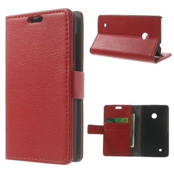 Image of Nokia Lumia 530 Deluxe FlipCover Med Pung - Rød