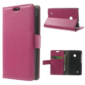 Image of Nokia Lumia 530 Deluxe FlipCover Med Pung - Rosa