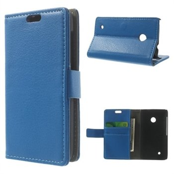 Image of Nokia Lumia 530 Deluxe FlipCover Med Pung - Blå