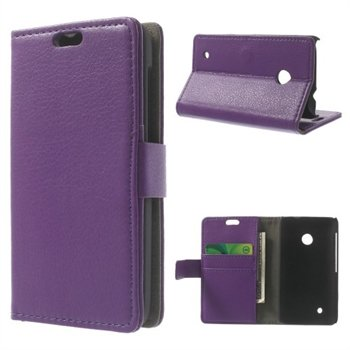 Image of Nokia Lumia 530 Deluxe FlipCover Med Pung - Lilla