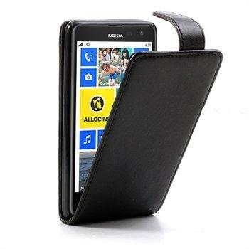 Image of Nokia Lumia 625 FlipCase Taske/Etui - Sort