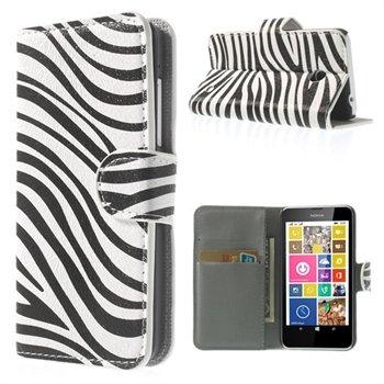 Image of Nokia Lumia 630 & 635 FlipCover Med Pung - Zebra