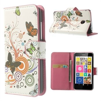 Image of Nokia Lumia 630 & 635 FlipCover Med Pung - Vivid Butterfly