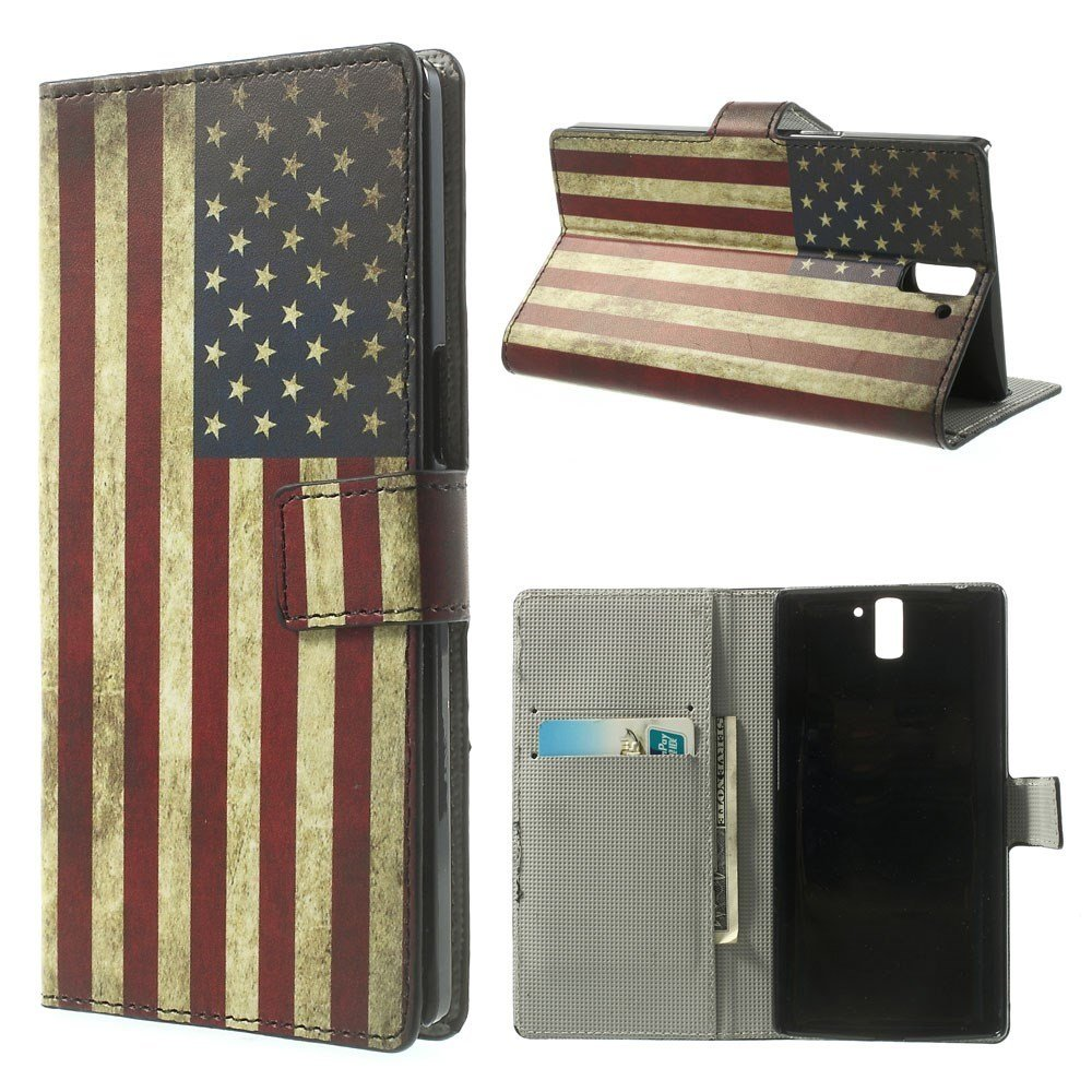 OnePlus One Design Flip Cover - Stars & Stripes