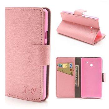 Image of Huawei Ascend D2 Flip Cover Med Pung - Pink