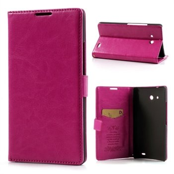 Image of Huawei Ascend Mate Flip Cover Med Pung - Rosa