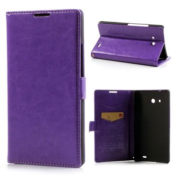 Image of Huawei Ascend Mate Flip Cover Med Pung - Lilla