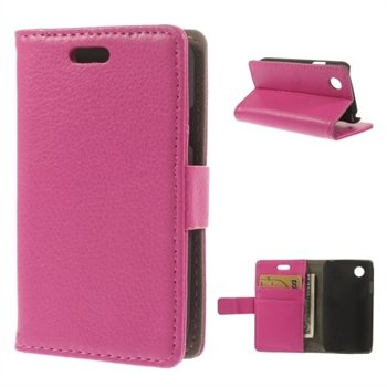 Image of LG L40 Deluxe Flip Cover Med Pung - Rosa