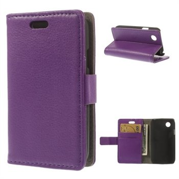 Image of LG L40 Deluxe Flip Cover Med Pung - Lilla
