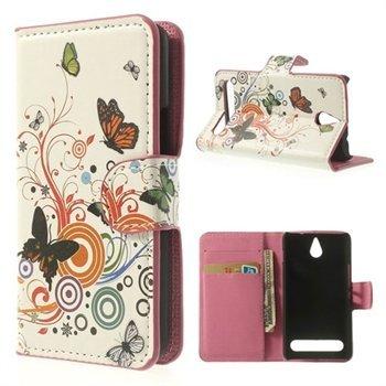 Billede af Sony Xperia E1 Flip Cover Med Pung - Vivid Butterfly