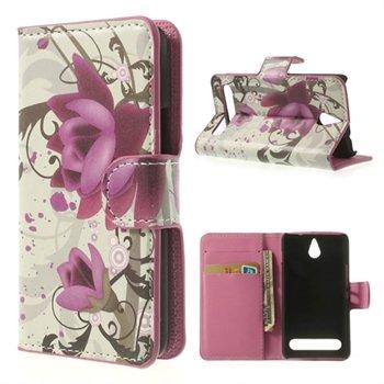 Billede af Sony Xperia E1 Flip Cover Med Pung - Lotus Flower