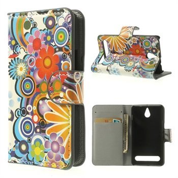 Image of   Sony Xperia E1 Flip Cover Med Pung - Flower Power
