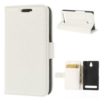 Billede af Sony Xperia E1 Design Flip Cover Med Pung - Hvid