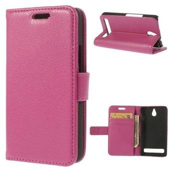Billede af Sony Xperia E1 Design Flip Cover Med Pung - Rosa
