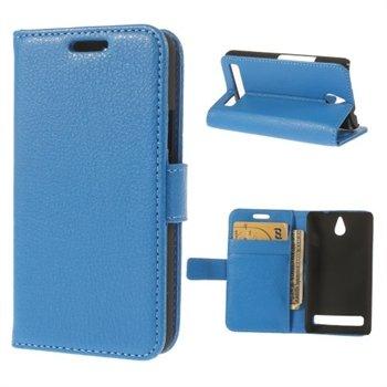 Billede af Sony Xperia E1 Design Flip Cover Med Pung - Blå