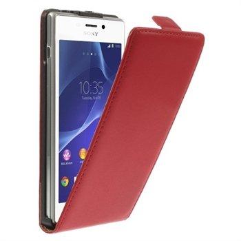 Billede af Sony Xperia M2 Deluxe Flip Cover - Rød