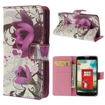 Image of LG L70 Flip Cover Med Pung - Lotus Flower
