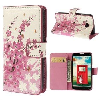 Image of LG L70 Flip Cover Med Pung - Plum Blossom