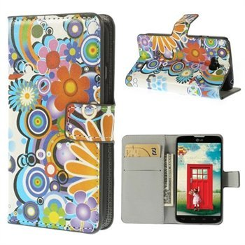 Image of   LG L70 Flip Cover Med Pung - Flower Power