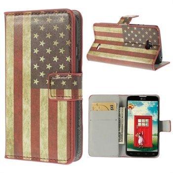 Image of LG L70 Flip Cover Med Pung - Stars & Stripes