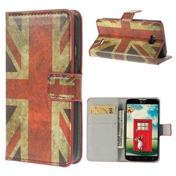 Image of LG L70 Flip Cover Med Pung - Union Jack