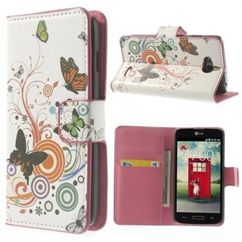 Billede af LG L90 Flip Cover Med Pung - Vivid Butterfly